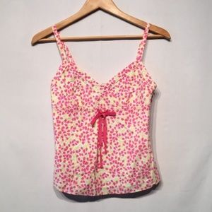 J. Crew 100% Cotton Pink & Yellow Cami Size XS